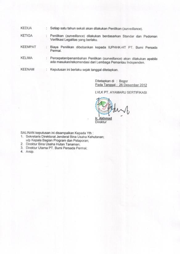 3. SK PENERBITAN SERTIFIKAT PT. BPP HAL 2